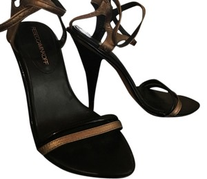Rebecca Minkoff black and gold Sandals