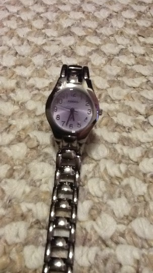 Fossil fossil watch with light purple face
