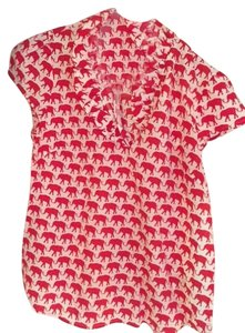 Elizabeth McKay Top Red and white
