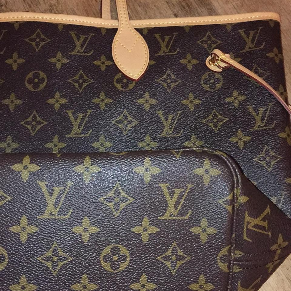 62e9cafb89ab Louis Vuitton Neverfull Mm New Tote in Monogram with pivoine (pink) lining  Image 7. 12345678