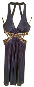 Morgan & Co Sequin Pleated Formal Prom Dress