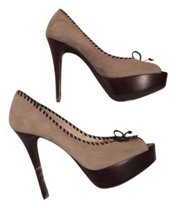 Michael Kors Mk Heels Formal Designer Tan & Brown Pumps