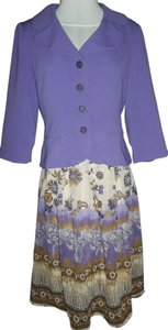 K & Company Skirt Blazer Size 8 Paisley Dress