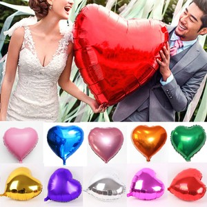 """Gold 30"""" Jumbo Color Large Heart Shape Foil Balloon Float By Helium Valentine Wedding Party Decoration"""