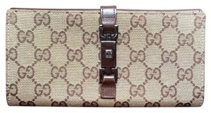 Gucci Gucci Crystal Canvas GG Guccissima Wallet Bifold