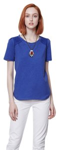 Anthropologie Saturday Sunday Knit Summer T Shirt BLUE