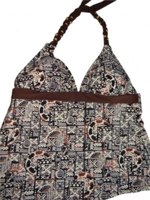 Preload https://item5.tradesy.com/images/black-and-brown-print-beaded-halter-with-triangle-bottoms-tankini-size-8-m-141169-0-0.jpg?width=400&height=650