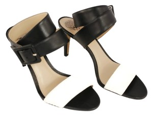 Vince Camuto Leather Manmade Sole Ivory/Black Sandals