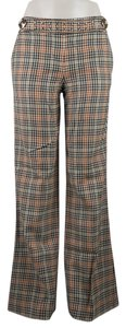 Tory Burch Plaid Wool Flare Pants