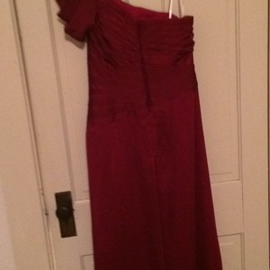 Belsoie Berry (Red) Tiffany Chiffon Formal Bridesmaid/Mob Dress Size 12 (L)