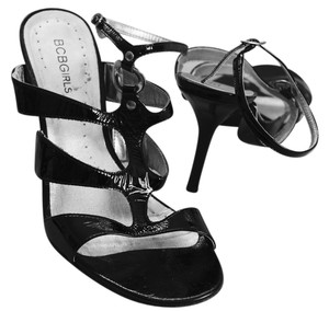 BCBGeneration Leather High Heel Vintage Pumps Compfortable Heels Black Sandals