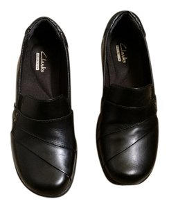 Clarks Leather Comfortable Black Flats