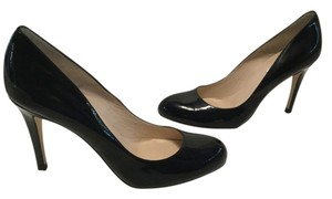 L.K. Bennett Made Spain All Leather E39 Black patent Pumps