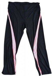 Free Spirit pink striped capri leggings