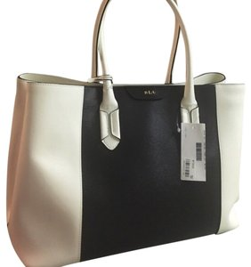 Lauren Ralph Lauren Tote in Black And Ivory