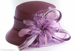 Fine Millinery Collections August Accessories Mirabel Cloche Hat Purple