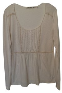 Michael Stars Anthropologie Knit Long Cotton Top Off-White