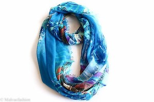 Collection Eighteen Collection Xiix Oasis Loop Scarf Barbados Blue
