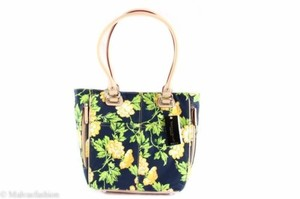 Tignanello Leather Bed Of Roses Handbag Roses Tote in Yellow