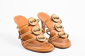 Chanel Cognac Leather Brown Sandals