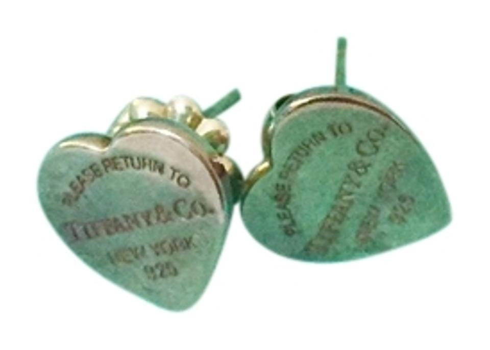 2e51022f5 Tiffany & Co. Sterling Silver Return To Mini Heart Tag Earrings ...