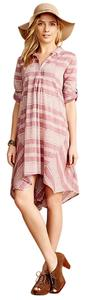 Anthropologie short dress Faded Red or