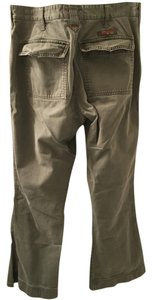 Abercrombie & Fitch Military Army Fly Wide Leg Pants Olive Green