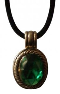 Other Vintage Emerald green & silver necklace