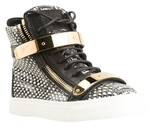 Giuseppe Zanotti Sneaker Snakeskin High Top Gold Hardware Athletic