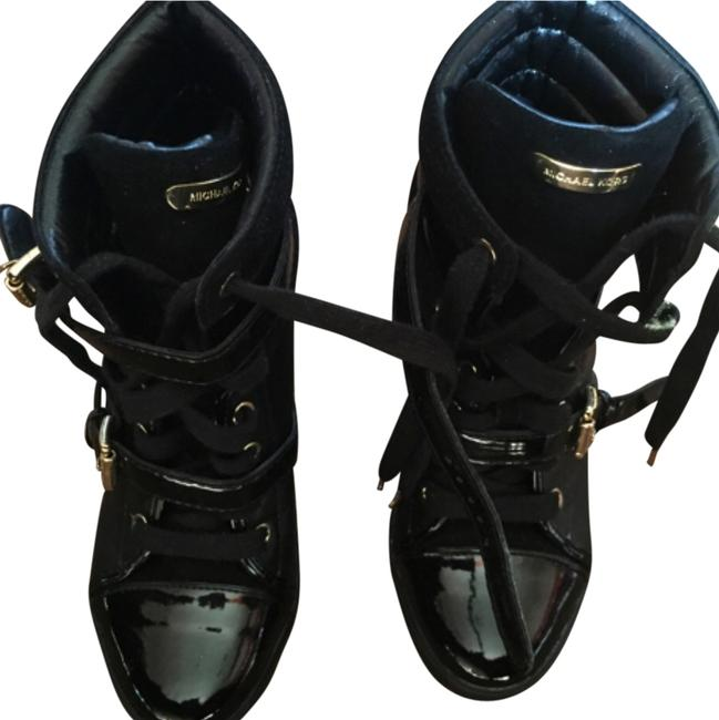 Item - Skid High Top Leather Wedge Sneakers Size US 7 Regular (M, B)