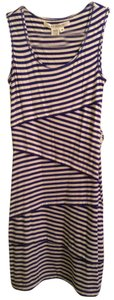 Max Studio short dress Blue & White Stripe 90% Rayon 5% Linen 5% Spandex on Tradesy