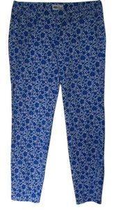 Old Navy Casual Comfortable Floral Capris blue and white
