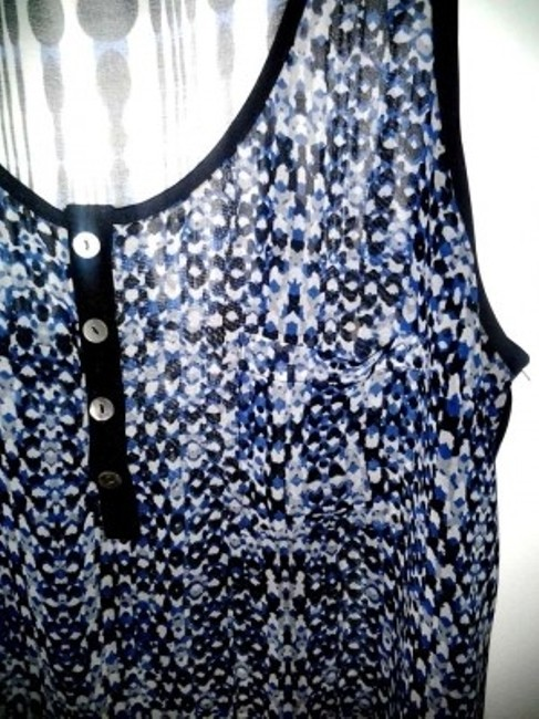 Charming Charlie Top Blue/Black