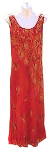 Orange Maxi Dress by Saint Tropez West Sleeveless