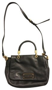 Marc by Marc Jacobs Leather Crossbody Work Satchel in Black