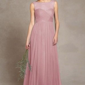 Jenny Yoo Whipped Apricot Tulle Modern Bridesmaid/Mob Dress Size 4 (S)