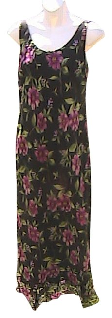 Item - Black Sleeveless Floral Summer Long Casual Maxi Dress Size 6 (S)