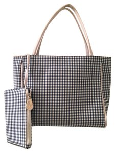 Aerosoles Checkered Spring Tote in Blue Gingham