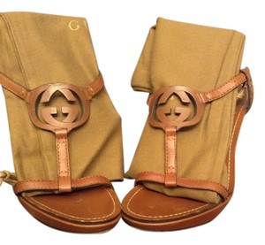 Gucci Caramel Wedges