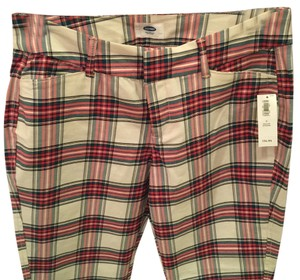 Old Navy Skinny Pants White Plaid
