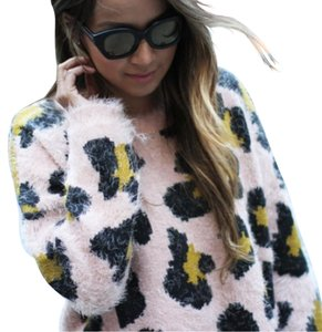 Topshop Soft Faux Leopard Sweater