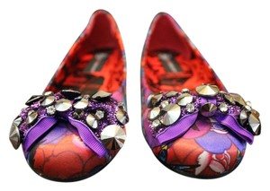JustFab Ironfist Bow Purple Flats
