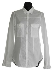 La Fée Maraboutée Fee Maraboutee Button Down Shirt white