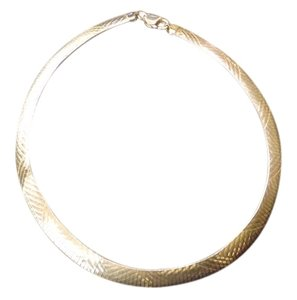 Italy .925 Large Sterling Silver Choker Necklace