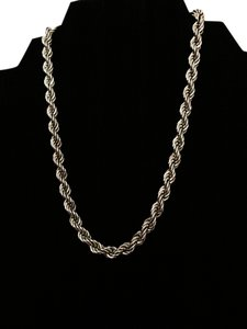 MONET Signed Rope Link Chain Vintage Choker Necklace