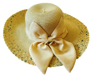 Foldable Bow Women Sun Straw Hat Wide Large Brim Floppy Summer Beach Hat Cap