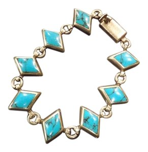Turquoise Mexico Bracelet Beautiful Sterling Silver Turquoise Bracelet