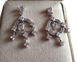 CRISLU Crislu SS Crystal post earrings