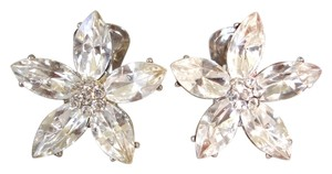 Other Crystal flower clip earrings