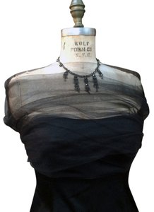 Other Tulle Shear Shrug Stole Shawl Black Size M